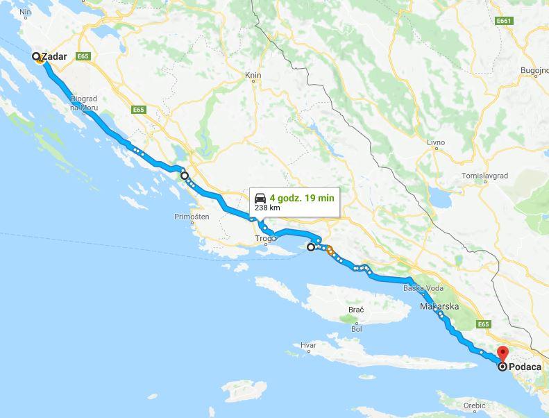 Wybrzeże Chorwacji, co warto zobaczyć w Chorwacji, atrakcje Bośni i Hercegowiny, co warto zobaczyć w Bośni i Hercegowinie - trasa z Zadaru do Splitu i do Podacy. Podróż przez Bałkany samochodem.