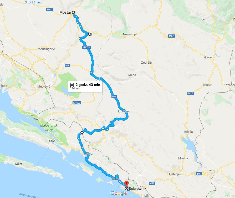 Wybrzeże Chorwacji, co warto zobaczyć w Chorwacji, atrakcje Bośni i Hercegowiny, co warto zobaczyć w Bośni i Hercegowinie - trasa z Mostaru przez Blagaj do Dubrownika. Podróż przez Bałkany samochodem.