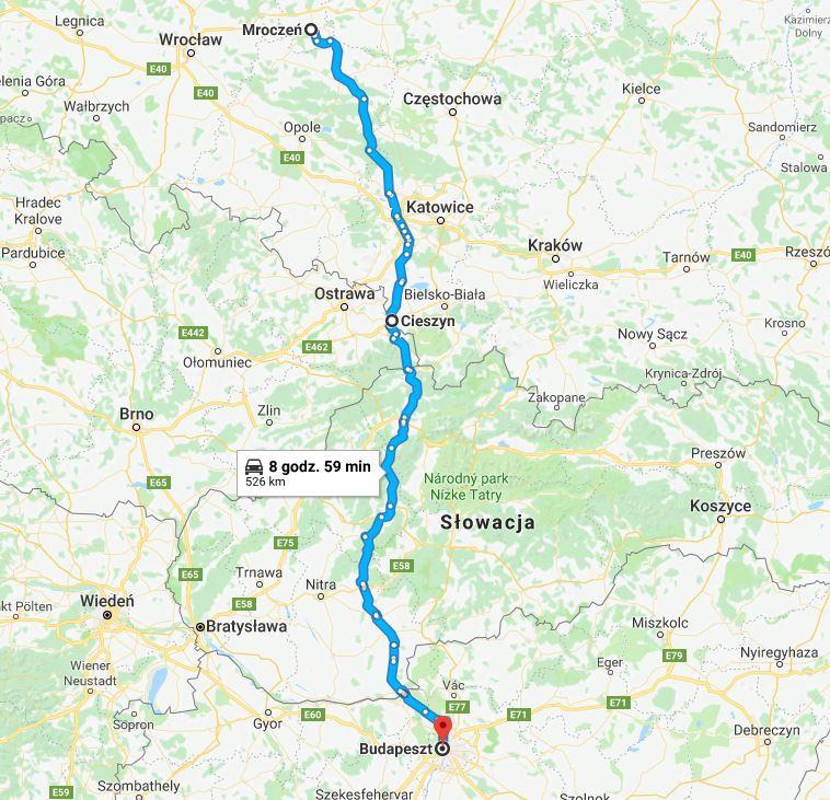 Trasa z Budapesztu do Polski, jak dojechać do Budapesztu