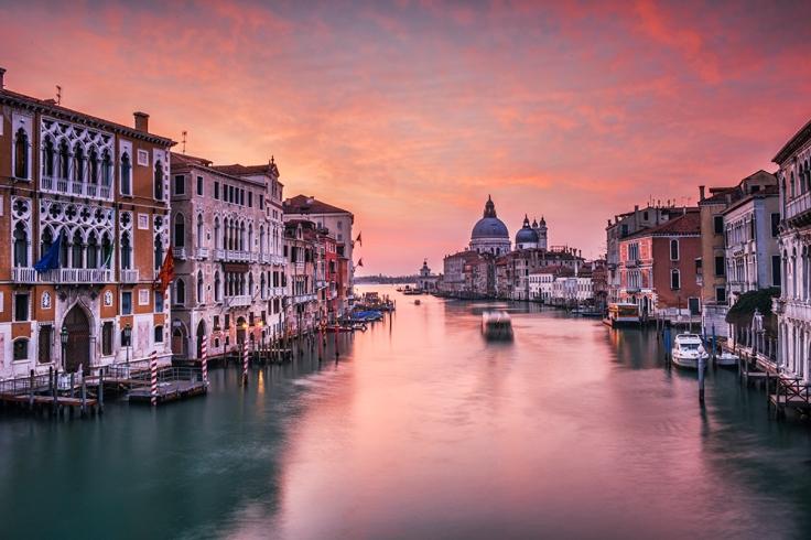 Najciekawsze miejsca Wenecji. Canal Grande z Ponte dell'Accademia