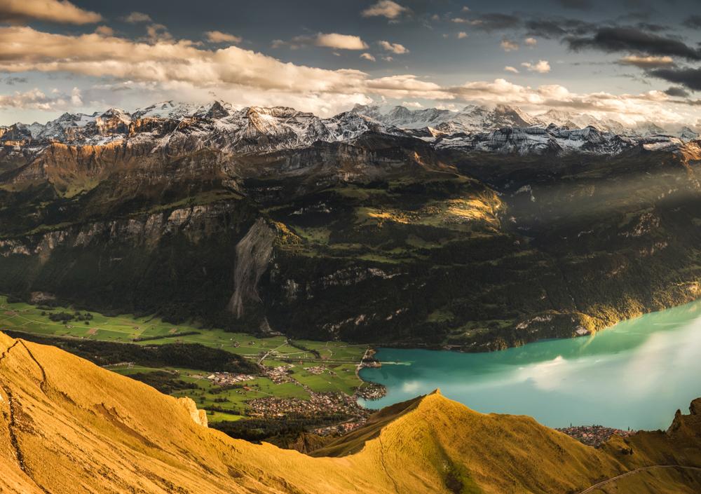 Panorama Alp Berneńskich z Brienzer Rothorn, Rezerwat Biosfery UNESCO Entlebuch, Szwajcaria