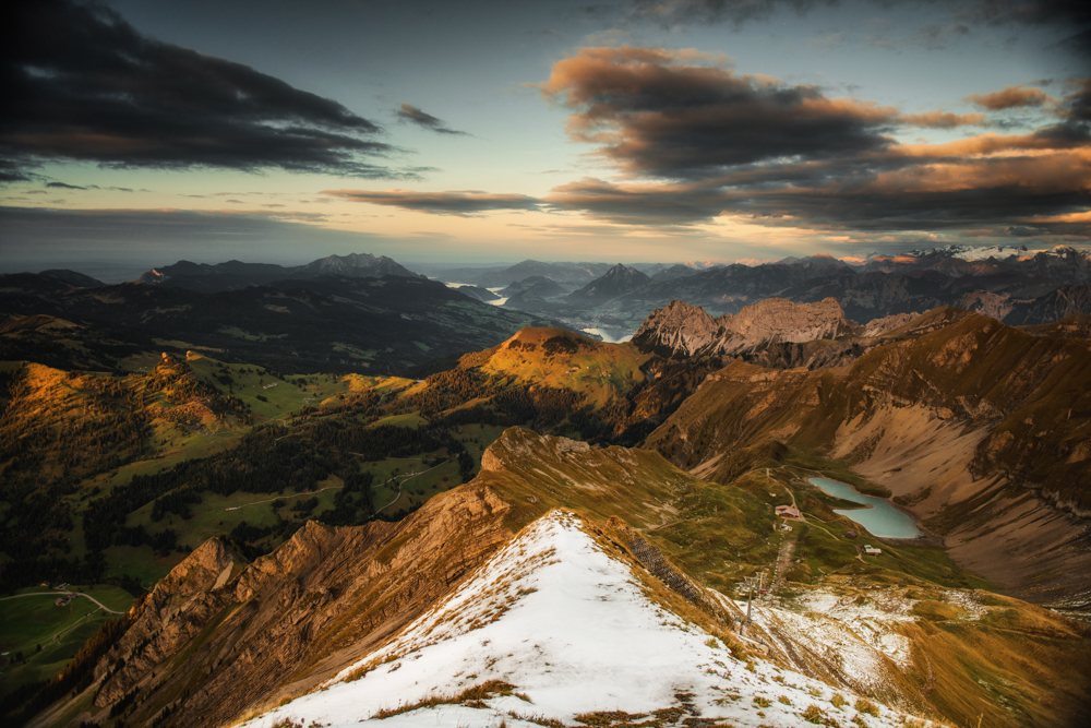 Panorama z Brienzer Rothorn, Rezerwat Biosfery UNESCO Entlebuch, Szwajcaria