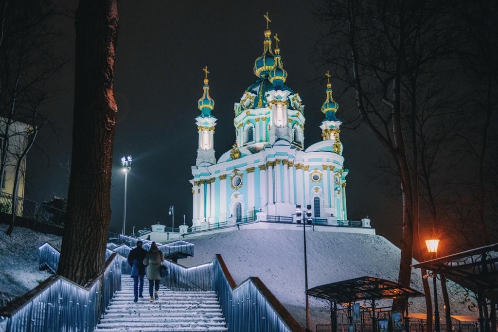 Co warto zobaczyć w Kijowie - największe atrakcje Kijowa. Cerkiew Świętego Andrzeja.