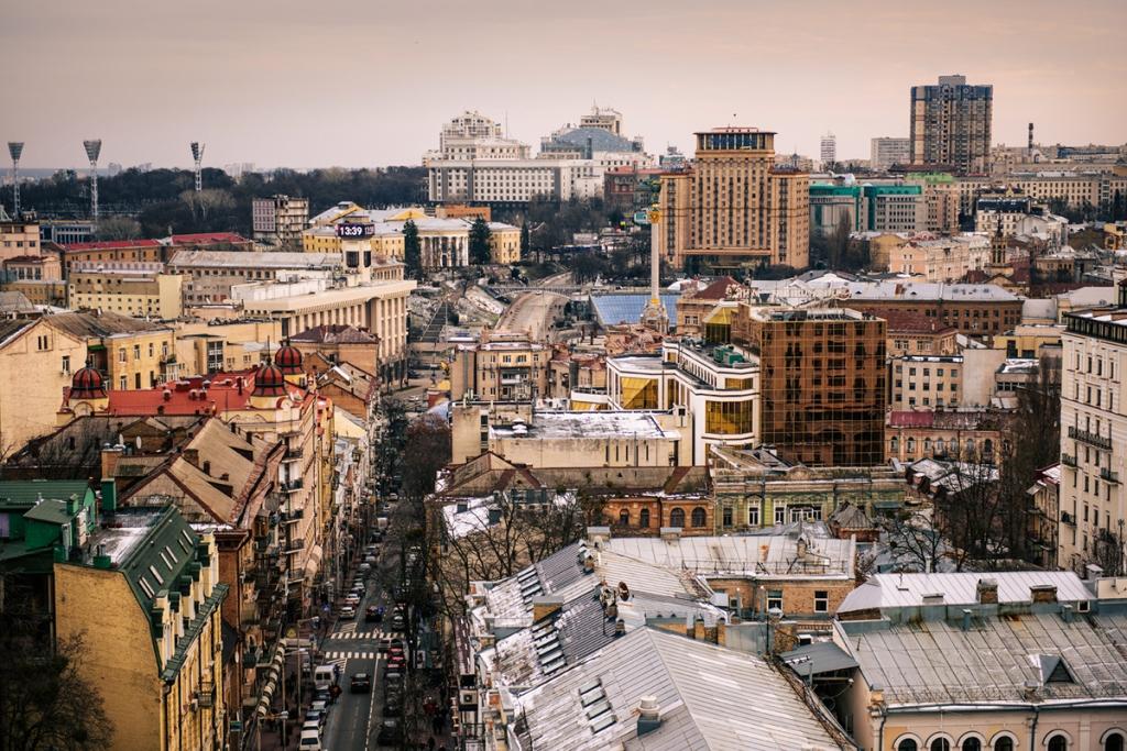Co warto zobaczyć w Kijowie - największe atrakcje Kijowa. Punkt widokowy - wieża dzwonnica Soboru Sofijskiego.