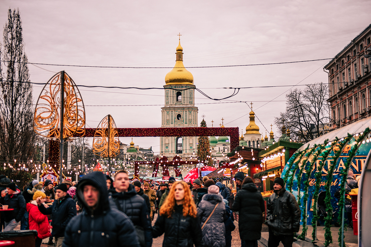 Co warto zobaczyć w Kijowie - największe atrakcje Kijowa. Plac Sofijski w Kijowie.